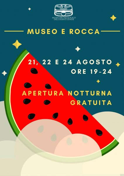 21 22 e 24 agosto A CASTELLINA IN CHIANTI